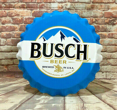 $ CDN50.86 • Buy Large Busch Beer Bottle Cap Aluminum Sign For Man Cave Bar Or Garage