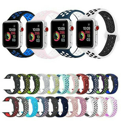 $ CDN3.40 • Buy For Apple Watch Sport Band Silicone IWatch Series 5 4 3 2 1 40mm 44mm 38mm 42mm