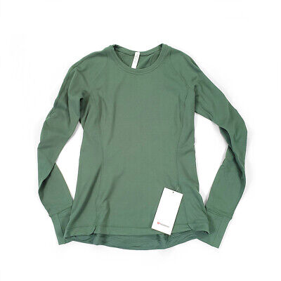$ CDN72 • Buy NWT [Size 10] Lululemon Womens Runderful Long Sleeve Algae Green