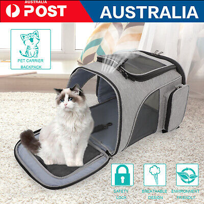 AU21.79 • Buy 【Spacious】 Dog Cat Pet New Carrier Backpack Travel Bag Front Dogs Outdoor Bike