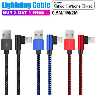 AU5.06 • Buy  90 Degree Right Angle USB Charger Lightning Cable Apple IPhone IPod IPad