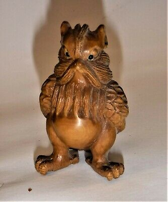 Antique Japanese Netsuke   The Wise Old Owl   Lots Of Detail • 65£