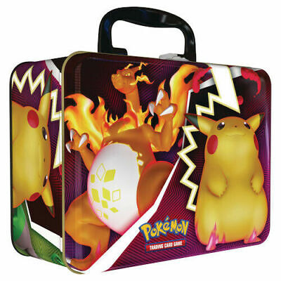 Pokemon Collectors Storage Chest Tin With Notepad And Sticker Sheets • 12.99£