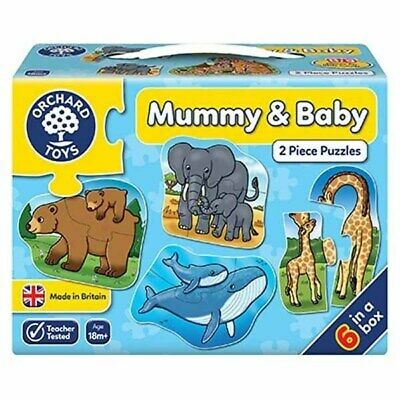 £7.99 • Buy Orchard Toys ORCHARD TOYS - Mummy And Baby - 6 X 2pc Jigsaw Puzzle