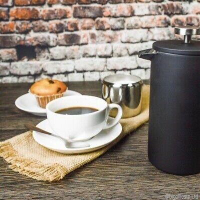 £13.99 • Buy White Cappuccino Tea Coffee Cups & Saucers Set 225ml 8oz Commercial Porcelain