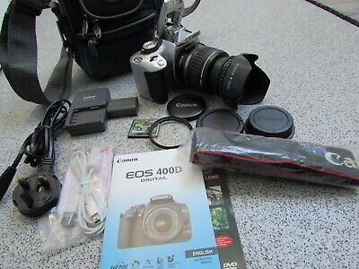£140 • Buy Canon EOS 400D 10.1MP Digital SLR Camera - Silver With EF-S 18-55mm Lens (PN178)