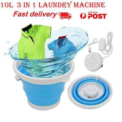 AU35.49 • Buy Portable-Travel Folding Washing Machine Automatic Mini Bedroom Laundry Tub Basin