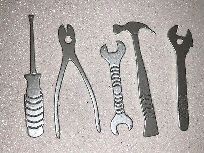 Set Of 10 Card Silver Tools Embellishments/toppers Die Cuts Dad/Grandad Birthday • 1.50£