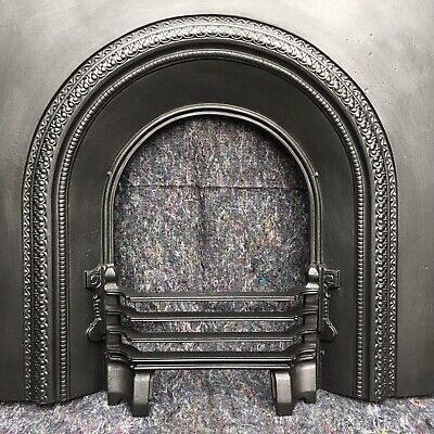 Cast Iron Victorian Style Fire Surround / Fireplace Insert, Arched Uk Delivery • 99£