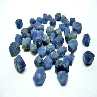 2 Real Sapphires Natural Crystal Point The Joy Peace Gemstone Healing Chakra • 2.25£