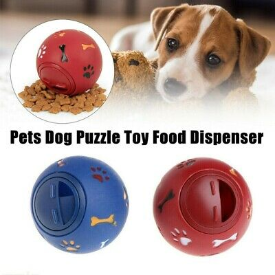 Pet Interactive Puzzle Toy Food Dispenser Tough-Treat Ball Dog Puppy Play Toys • 4.99£