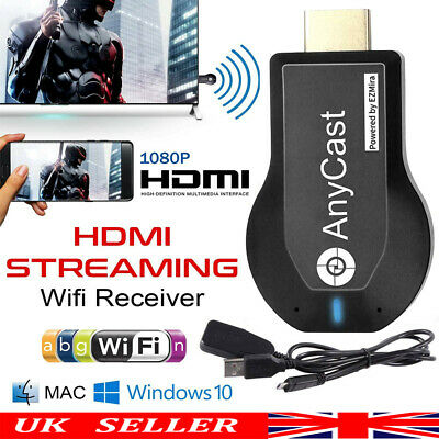 AnyCast M2 Plus WiFi Display Receiver Dongle Airplay Miracast TV DLNA 1080P UK • 8.38£