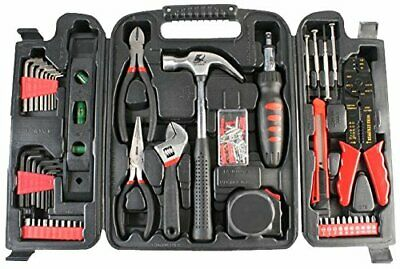 Duratool 14956TL Household Tool Kit In Blow Moulded Carry Case - Black • 34.99£