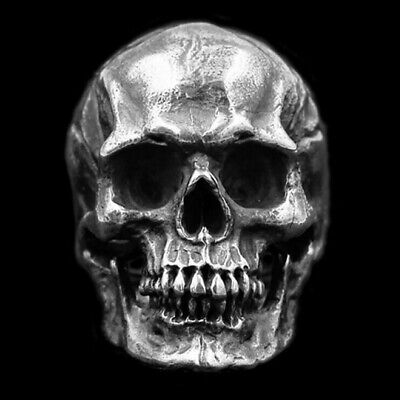Personality Men Skull Ring Gothic Stainless Steel Biker Ring Charm Jewelry Gifts • 1.85£