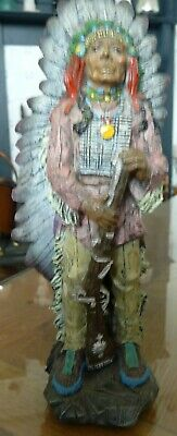 """Vintage American Native Indian Collectable Figurine Approx 8"""" 21cm Tall Approx • 11.99£"""