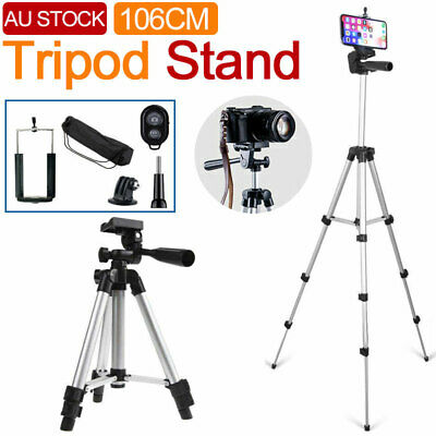 AU15.96 • Buy Universal Telescopic Camera Tripod Stand Holder Mount For Phone IPhone Samsung