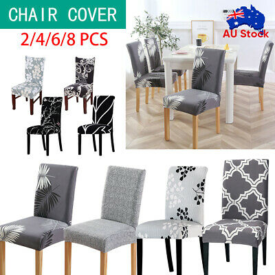 AU25.59 • Buy 1-8 PCS Dining Chair Covers Washable Wedding Banquet Party Stretch Chair Covers
