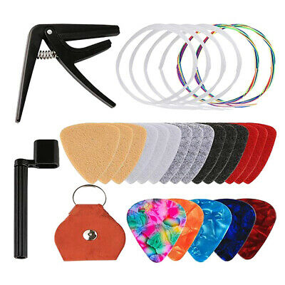 $ CDN14.39 • Buy Ukulele Guitar Changing Accessories Kit Strings Pick Capo Winder&Cutter Tuner