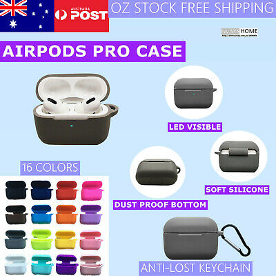 AU5.95 • Buy Airpods Pro Case Shockproof Silicon Case Cover For Airpods Skin Anti Lost Strap