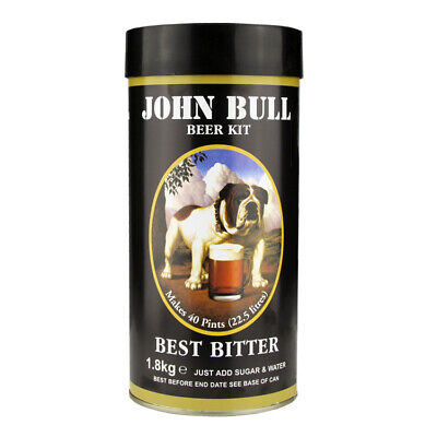 John Bull BEER KIT 1.8kg - 40 Pints Home Brew - Multi Listing - Including Sugar • 17.99£