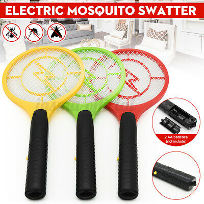 Electric Fly Insect Racket Zapper Killer Swatter Bug Mosquito Wasp Electronic UK • 5.79£