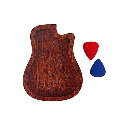 $ CDN18.16 • Buy Guitar Picks Holder Wooden Plectrum Storage Box Case Guitar Accessories #R