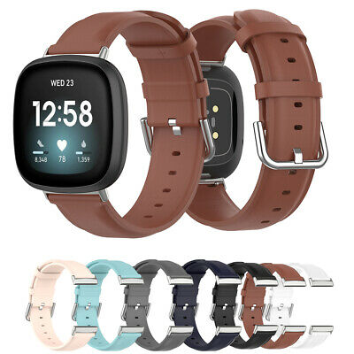 $ CDN15.77 • Buy Strap Genuine Leather Watch Band Bracelet Watchband For Fitbit Versa 3 Sense