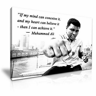 Muhammad Ali Boxing Sports Quote PICTURE PRINT CANVAS WALL ART  20X30INCH • 25£