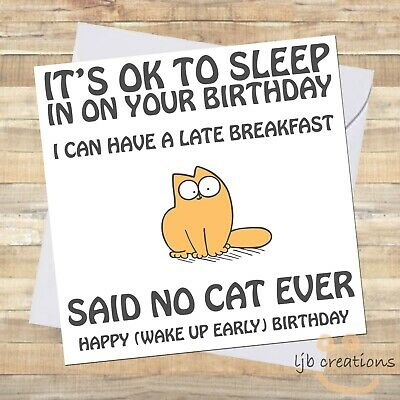 £2.65 • Buy Funny CAT Birthday Card Cat Owner Pet Lover Comedy Humour Him Her Lady Mum Dad