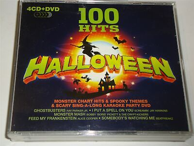 100 Hits Halloween CD Set With Bonus DVD Spooky Party Songs • 4.99£