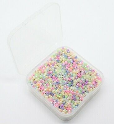 £2.99 • Buy Small Box Of 50g Of 2mm Pearlised Glass Seed Beads. Aprx 3300 Beads. Seed15-2