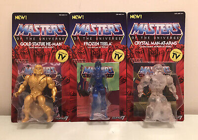 $79.95 • Buy Crystal Man-At-Arms Frozen Teela Gold He-Man Super7 Masters Of The Universe MOTU