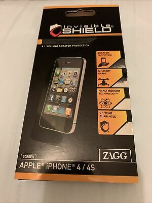 £2 • Buy Zagg Invisible Shield Iphone 4 4s Screen Protector