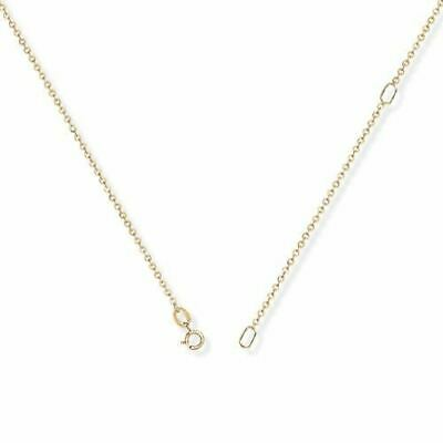 9ct Gold Fine Trace Chain 16-18  Adjustable • 71.23£