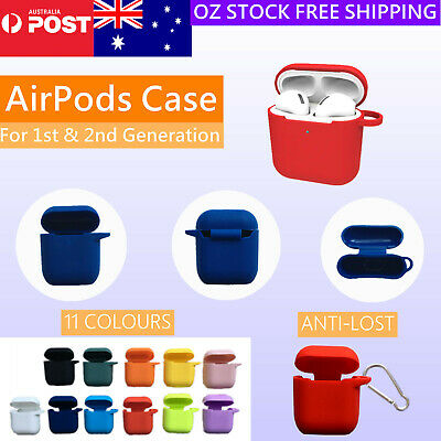 AU4.95 • Buy Airpods 1st 2nd Gen Case Shockproof Silicon Cover For Airpods Skin Anti Lost NEW