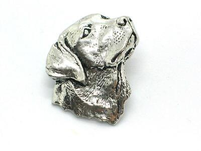Large Labrador Head,  English Pewter  Pin Brooch / Badge In Gift Pouch • 5.75£
