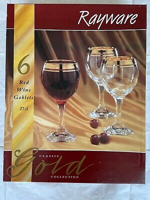 Rayware Classic Gold Collection Red Wine Goblets 27cl • 20£