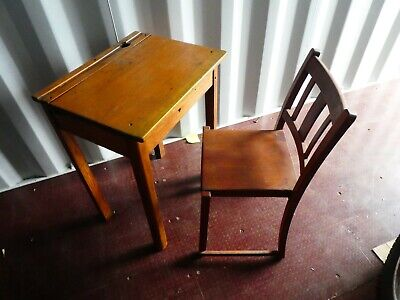 Old School Desk And Chair • 75£