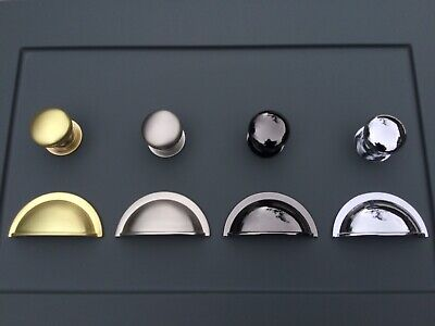 Cup Handles And Knobs For Kitchen Cabinets &bedroom Cupboards &other Furniture • 2.95£