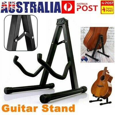 AU30.39 • Buy 2PCS Folding Guitar Stand Electric Acoustic Bass Floor Rack Holder Fast Shipping