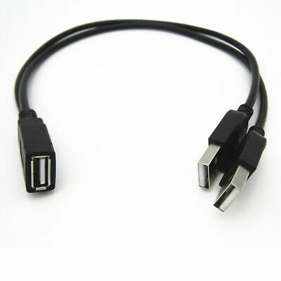 £2.99 • Buy USB 2.0 A Female To 2 Dual USB Male Hub Power Adapter Y Splitter Cable Cord Lead