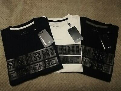 Brand New Armani Exchange AX Men`s Short Sleeve T-shirts In 3 Colors And 5 Sizes • 24.99£