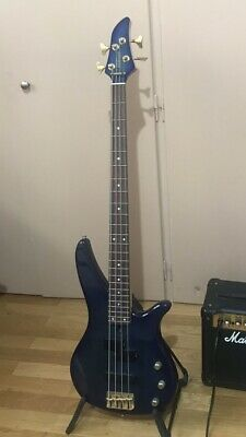 Yamaha Rbx460 Bass Guitar Flamed Blue • 250£