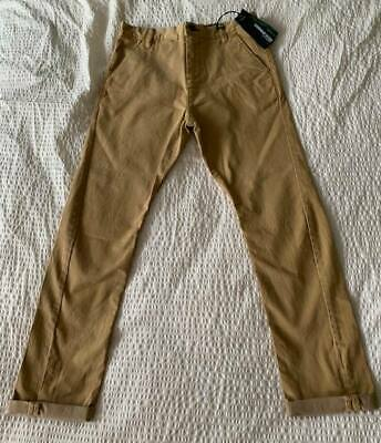 New! Next Boy's Chinos Trousers Skinny Twisted Carrot Fit Sand Colour Age 10 Yrs • 10£