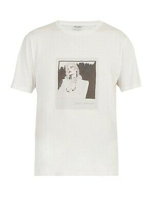 BNWT Saint Laurent Face Print Cotton Jersey T-shirt Tee Size XL Made In Italy • 119.99£