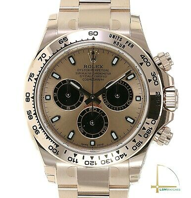 $ CDN62832.40 • Buy Rolex Daytona 18K Rose Gold Cosmograph Watch Pink Index Dial Oyster Band 116505