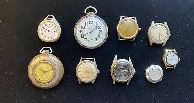 $ CDN13.72 • Buy Lot Of 9 Vintage Mens Watches For Parts Or Repair