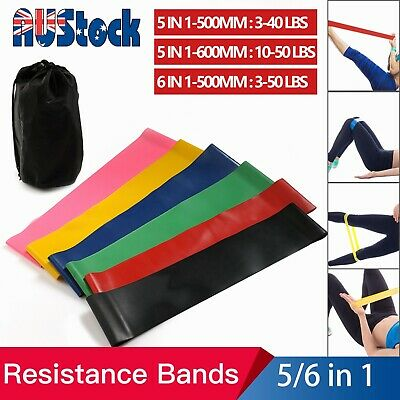 AU19.99 • Buy Resistance Exercise Bands Yoga Pilates Strap Home Gym Fitness Workout Crossfit