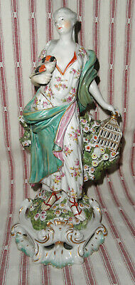 $ CDN589.08 • Buy Antique Derby Porcelain Element Of Air Lady With Bird Statue Figurine