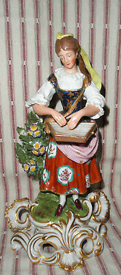 $ CDN222.53 • Buy Antique Edme Samson Porcelain Lady Playing Zither Musical Instrument Figurine